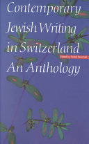 Contemporary Jewish Writing in Switzerland