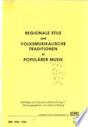 Regionale Stile und volksmusikalische Traditionen in populärer Musik