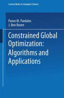 Constrained Global Optimization  Algorithms and Applications