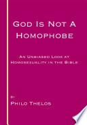 God Is Not A Homophobe