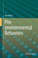Pro-environmental Behaviors