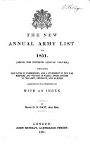 The New Annual Army List, Militia List, and Yeomanry Cavalry List ebook
