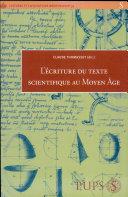 L'écriture du texte scientifique