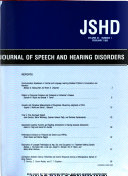 The Journal of Speech and Hearing Disorders