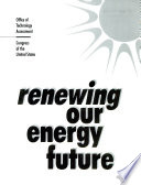 Renewing Our Energy Future Book
