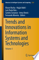 Trends and Innovations in Information Systems and Technologies