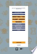 Meeting The Pump Users Needs Book PDF