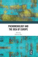Phenomenology and the Idea of Europe Pdf/ePub eBook