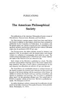 Transactions  American Philosophical Society  vol  80  Part 4  1990