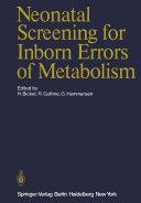 Neonatal Screening for Inborn Errors of Metabolism Pdf/ePub eBook