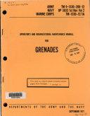 Pdf Operator's and Organizational Maintenance Manual for Grenades