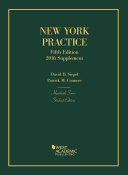 New York Practice, 5th: Student Edition, 2016 Supplement