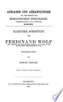 Ausgaben und Abhandlungen aus dem Gebiete der romanischen Philologie