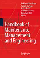 Handbook of Maintenance Management and Engineering Pdf/ePub eBook