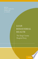 Lean Behavioral Health Book PDF