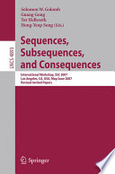 Sequences  Subsequences  and Consequences