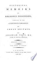 Historical Memoirs of Religious Dissension