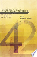 Papers Of The Forty Second Algonquian Conference