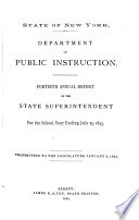 Annual Report Of The State Superintendent For The School Year