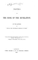 "Notes on the Book of the Revelation. By the author of ""Notes on the unfulfilled Prophecies of Isaiah."" [The author's preface signed H. M. L., i.e. Helen Maclachlan. With the text.]"