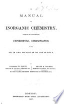 A Manual Of Inroganic Chemistry Book PDF