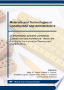 Materials And Technologies In Construction And Architecture Ii Book PDF