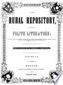The Rural Repository Devoted to Polite Literature Book