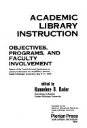 Academic Library Instruction Book