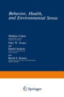 Behavior  Health  and Environmental Stress