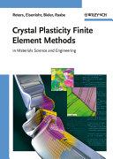 Crystal Plasticity Finite Element Methods [Pdf/ePub] eBook
