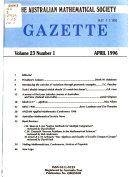Gazette   Australian Mathematical Society