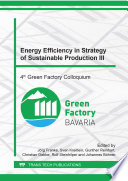 Energy Efficiency in Strategy of Sustainable Production III