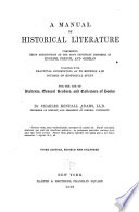 A Manual of Historical Literature Book