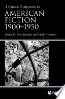 A Concise Companion to American Fiction  1900   1950