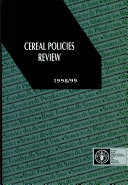 Cereal policies review  1998 99