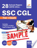 Free Sample 28 Solved Papers 2010 20 For Ssc Cgl Tier I Exam 4th Edition