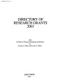 Directory of Research Grants 2003