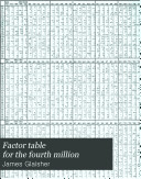 Factor Table for the Fourth Million