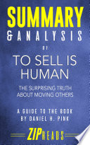 Summary   Analysis of To Sell Is Human Book PDF