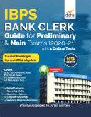 IBPS Bank Clerk Guide for Preliminary   Main Exams 2020 21 with 4 Online Tests  10th Edition