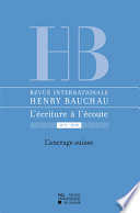 Revue internationale Henry Bauchau n°3 - 2011