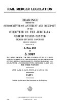 Rail Merger Legislation