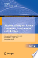 Advances in Computer Science  Environment  Ecoinformatics  and Education  Part II