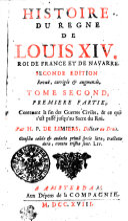 Histoire Du Regne De Louis XIV. Roi De France Et De Navarre