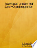 Essentials of Logistics and Supply Chain Management