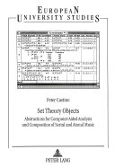 Set Theory Objects