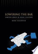 Lowering the Bar Book