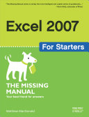 Pdf Excel 2007 for Starters