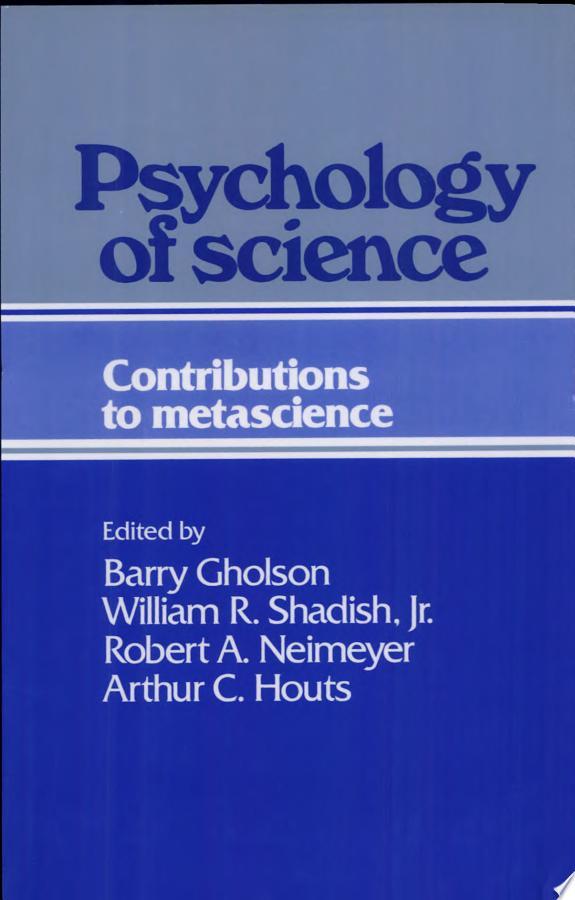 Psychology of Science