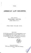 The American Law Register
